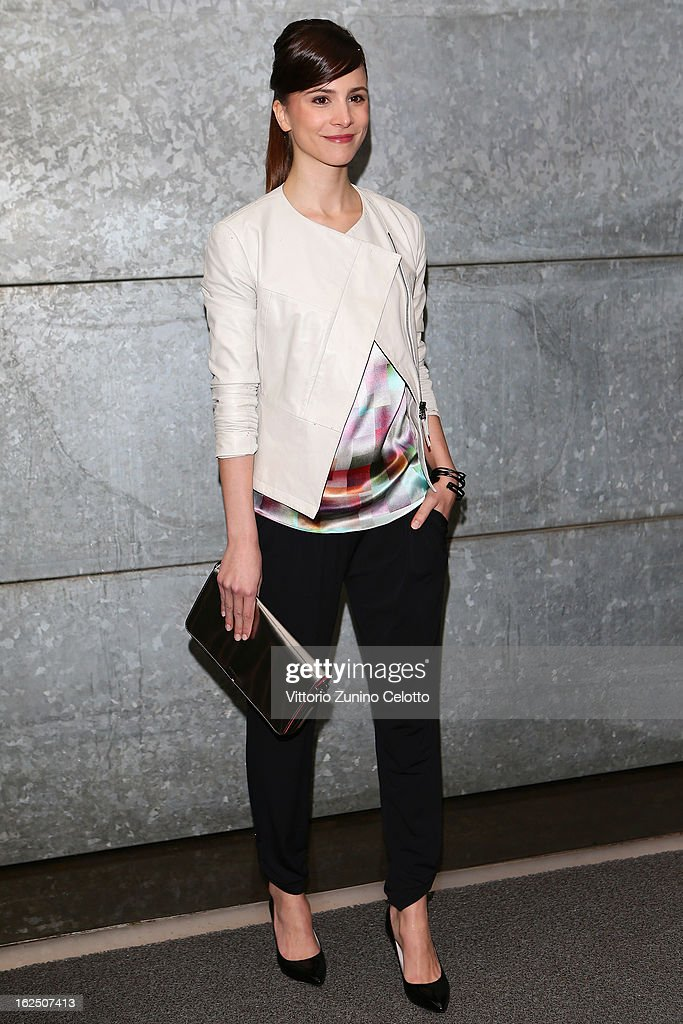 Aylin Tezel attends the Emporio Armani fashion show during Milan Fashion Week Womenswear Fall/Winter 2013/14 on February 24, 2013 in Milan, Italy.