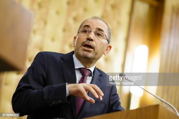 Ayman AlSafadi Jordan's foreign minister on April 24 2017 in Amman Jordan