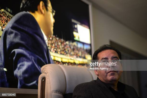 Ayman Nour 51yearold Egyptian former Presidential candidate head of Alghad Liberal Party is seen in Istanbul Turkey on February 14 2016 He left his...