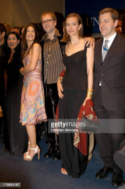 Aymara Rovera Jorge Roman and Carole Bouquet during 2005 Cannes Film Festival 'Nordeste' Premiere at Palais De Festival in Cannes France
