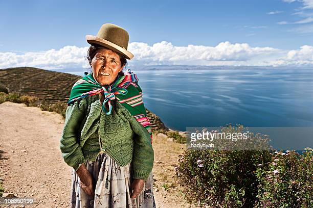 Aymara woman on Isla del Sol, Bolivia