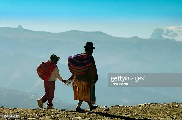 Aymaran Woman And Child In El Alto, Bolivia