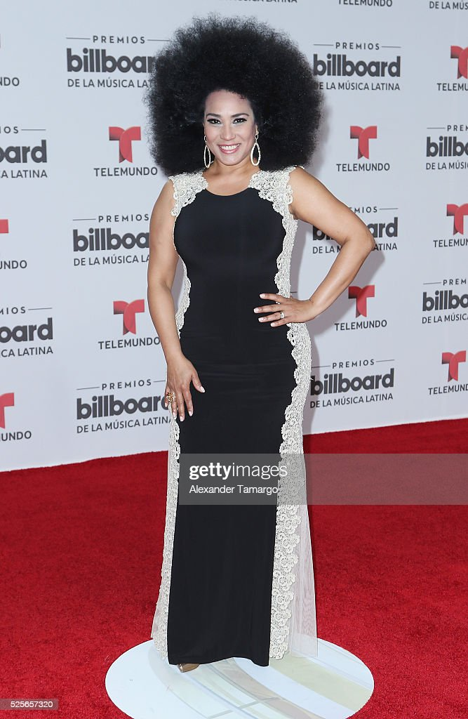 Aymee Nuviola attends the Billboard Latin Music Awards at Bank United Center on April 28, 2016 in Miami, Florida.