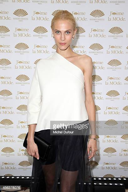 Aymeline Valade attends 'J'aime La Mode 2014' party in Mandarin Oriental as part of the Paris Fashion Week Womenswear Spring/Summer 2015 on September...