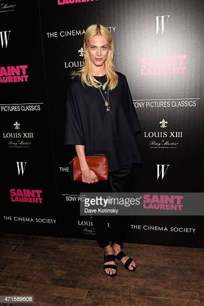 Aymeline Valade attends Sony Pictures Classics' screening of 'Saint Laurent' hosted by The Cinema Society with Louis XII Cognac and W Magazine at the...