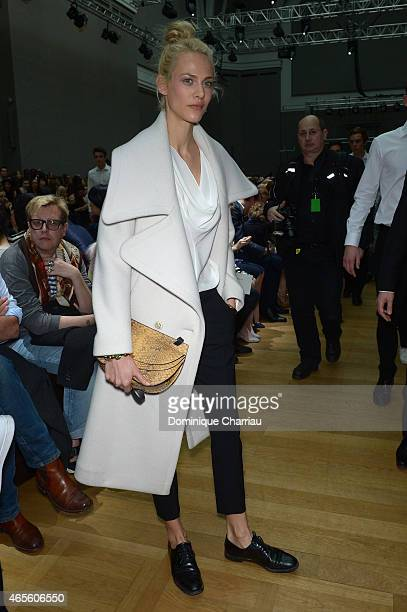 Aymeline Valade attends the Chloe show as part of the Paris Fashion Week Womenswear Fall/Winter 2015/2016 on March 8 2015 in Paris France
