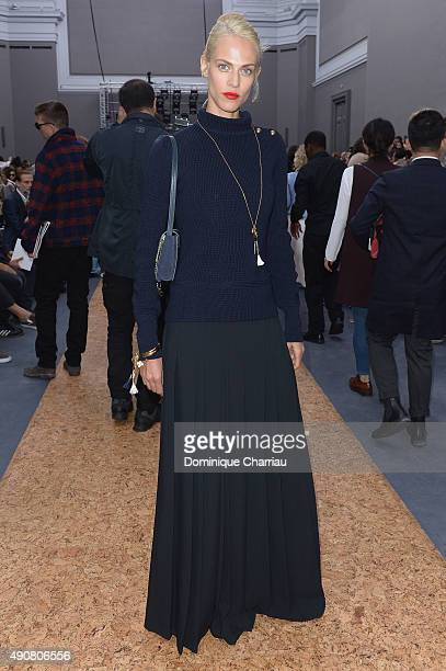Aymeline Valade attends the Chloe show as part of the Paris Fashion Week Womenswear Spring/Summer 2016 on October 1 2015 in Paris France