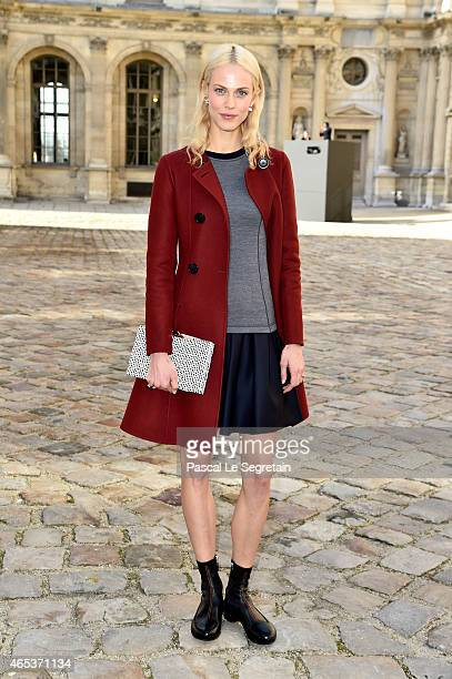 Aymeline Valade attends the Christian Dior show as part of the Paris Fashion Week Womenswear Fall/Winter 2015/2016 on March 6 2015 in Paris France