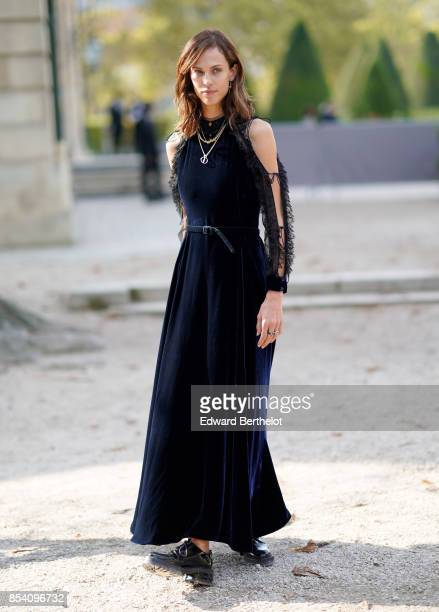 Aymeline Valade attends the Christian Dior show as part of the Paris Fashion Week Womenswear Spring/Summer 2018 on September 26 2017 in Paris France