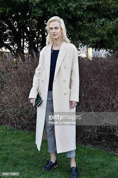 Aymeline Valade attends the Christian Dior Spring Summer 2016 show as part of Paris Fashion Week on January 25 2016 in Paris France
