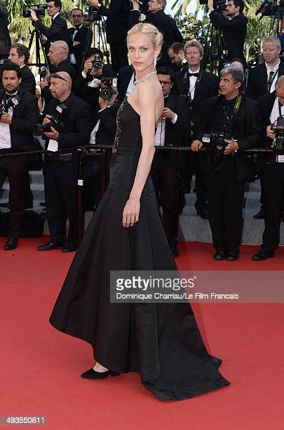 Aymeline Valade attends the Closing Ceremony and 'A Fistful of Dollars' Screening during the 67th Annual Cannes Film Festival on May 24 2014 in...
