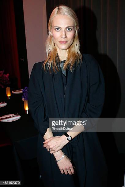 Aymeline Valade attends the ETAM Party as part of the Paris Fashion Week Womenswear Fall/Winter 2015/2016 Held at Piscine Molitor on March 3 2015 in...