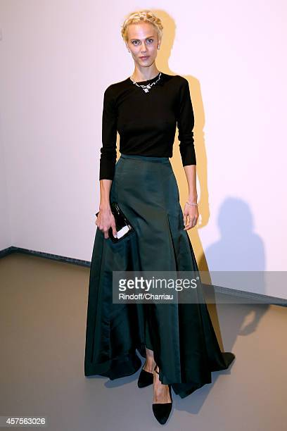 Aymeline Valade attends the Foundation Louis Vuitton Opening at Foundation Louis Vuitton on October 20 2014 in BoulogneBillancourt France