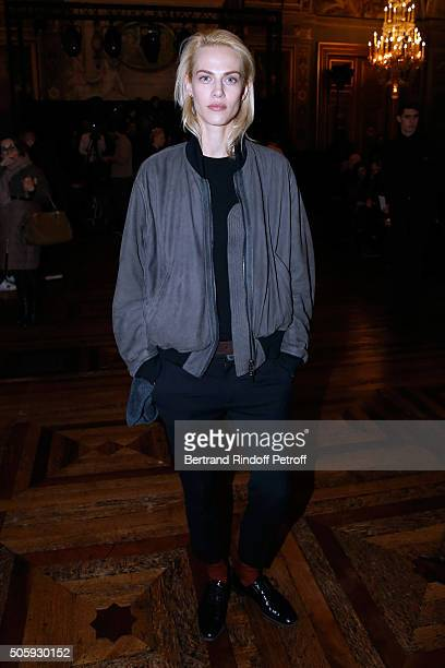 Aymeline Valade attends the Haider Ackermann Menswear Fall/Winter 20162017 show as part of Paris Fashion Week on January 20 2016 in Paris France