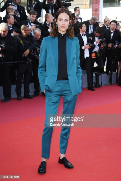 Aymeline Valade attends the 'Ismael's Ghosts ' screening and Opening Gala during the 70th annual Cannes Film Festival at Palais des Festivals on May...