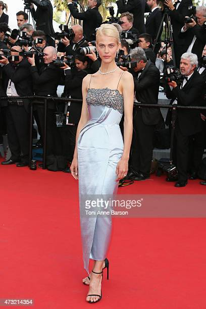 Aymeline Valade attends the opening ceremony and 'La Tete Haute' premiere during the 68th annual Cannes Film Festival on May 13 2015 in Cannes France