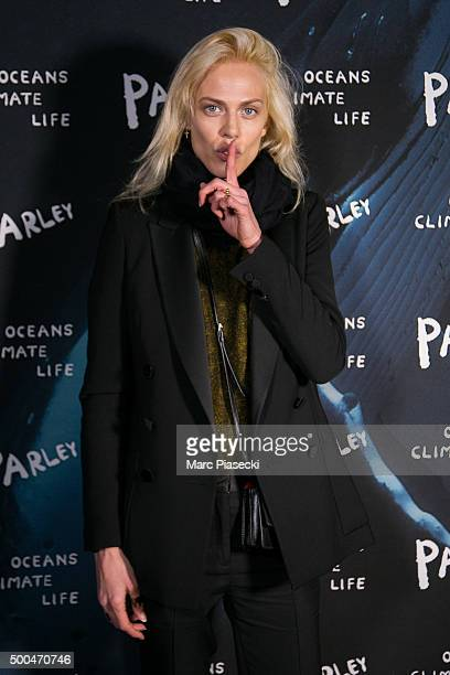 Aymeline Valade attends the 'Parley Talks' photocall at Les Bains Douches on December 8 2015 in Paris France