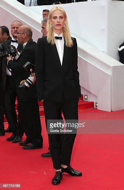 Aymeline Valade attends the 'Saint Laurent' premiere during the 67th Annual Cannes Film Festival on May 17 2014 in Cannes France