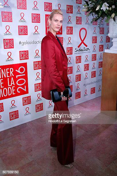 Aymeline Valade attends the Sidaction Gala Dinner 2016 as part of Paris Fashion Week Held at Pavillon d'Armenonville on January 28 2016 in Paris...
