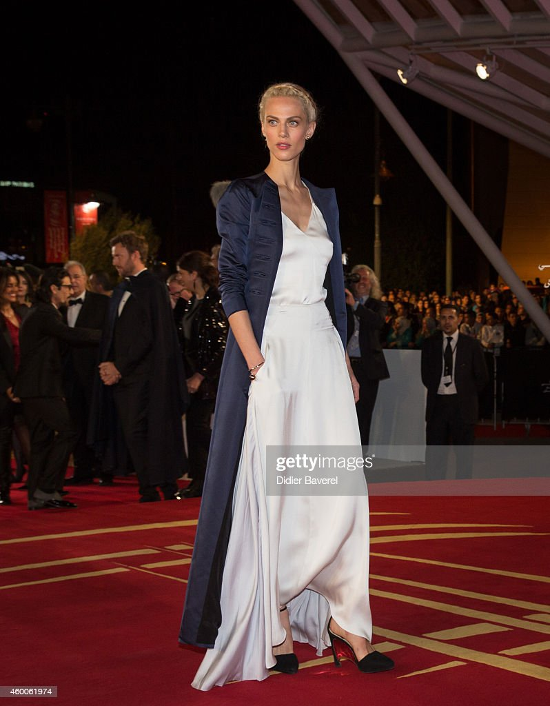 Aymeline Valade attends the Tribute to Jeremy Irons as part of the 14th Marrakech International Film Festival December 6, 2014 in Marrakech, Morocco.