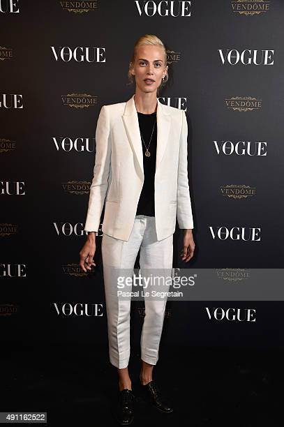Aymeline Valade attends the Vogue 95th Anniversary Party on October 3 2015 in Paris France