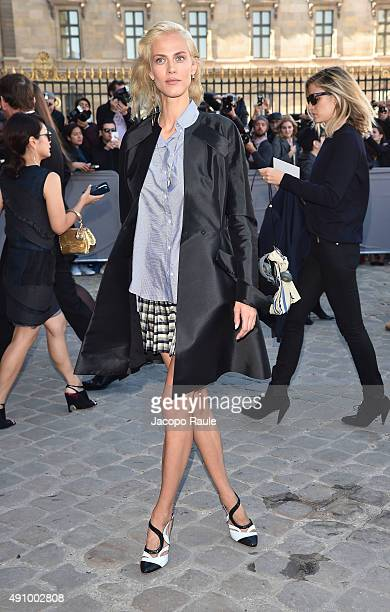 Aymeline Valade is arriving at Dior Fashion Show during the Paris Fashion Week S/S 2016 Day 4 on October 2 2015 in Paris France
