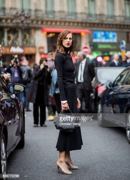 Aymeline Valade seen outside Stella McCartney during Paris Fashion Week Spring/Summer 2018 on October 2 2017 in Paris France