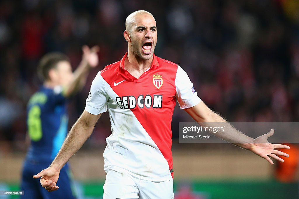 Aymen Abdennour of AS Monaco during the UEFA Champions League Round of Sixteen 2nd Leg match between AS Monaco and Arsenal at Stade Louis II on March...