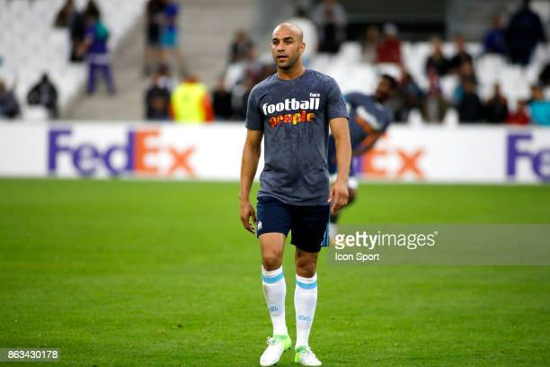 Aymen Abdennour of Marseille during the Europa League match between Olympique de Marseille and Vitoria Guimaraes SCat Stade Velodrome on October 19...