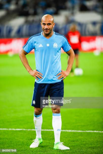 Aymen Abdennour of Marseille during the Ligue 1 match between Olympique Marseille and Stade Rennais at Stade Velodrome on September 10 2017 in...