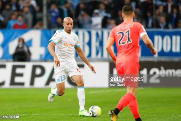 Aymen Abdennour of Marseille during the Ligue 1 match between Olympique Marseille and SM Caen at Stade Velodrome on November 5 2017 in Marseille
