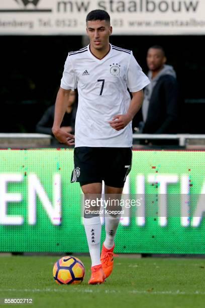 Aymen Barkok of Germany during the International friendly match between U20 Netherlands and U20 Germany U20 at Sportpark De Boshoek on October 5 2017...