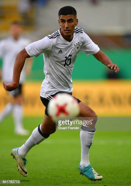 Aymen Barkok of Germany U21 in action during the International friendly match between Germany U21 and Hungary U21 at the Benteler Arena on September...