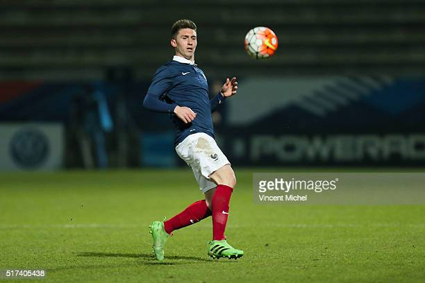 Aymeric Laporte of France during the Uefa U21 European Championship qualifier between France and Scotland at Stade Jean Bouin on March 24 2016 in...
