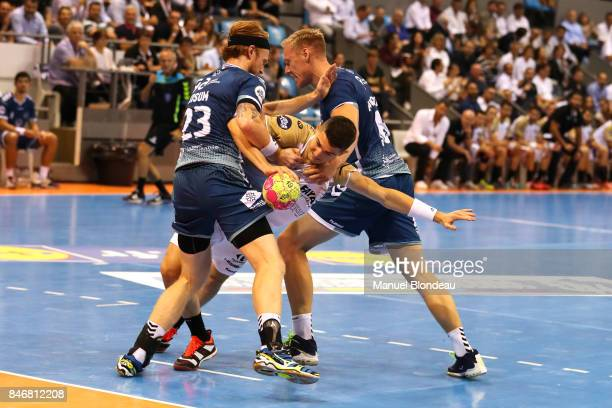 Aymeric Minne of Aix during Lidl Star Ligue match between Fenix Toulouse and Pays D'aix Universite Club on September 13 2017 in Toulouse France