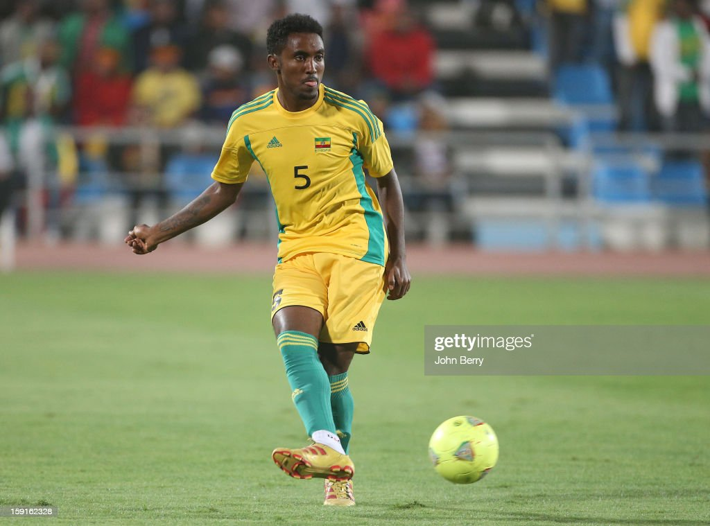 Aynalem Hailu of Ethiopia in action during the international friendly game between Tunisia and Ethiopia at the Al Wakrah Stadium on January 7, 2013 in Doha, Qatar.