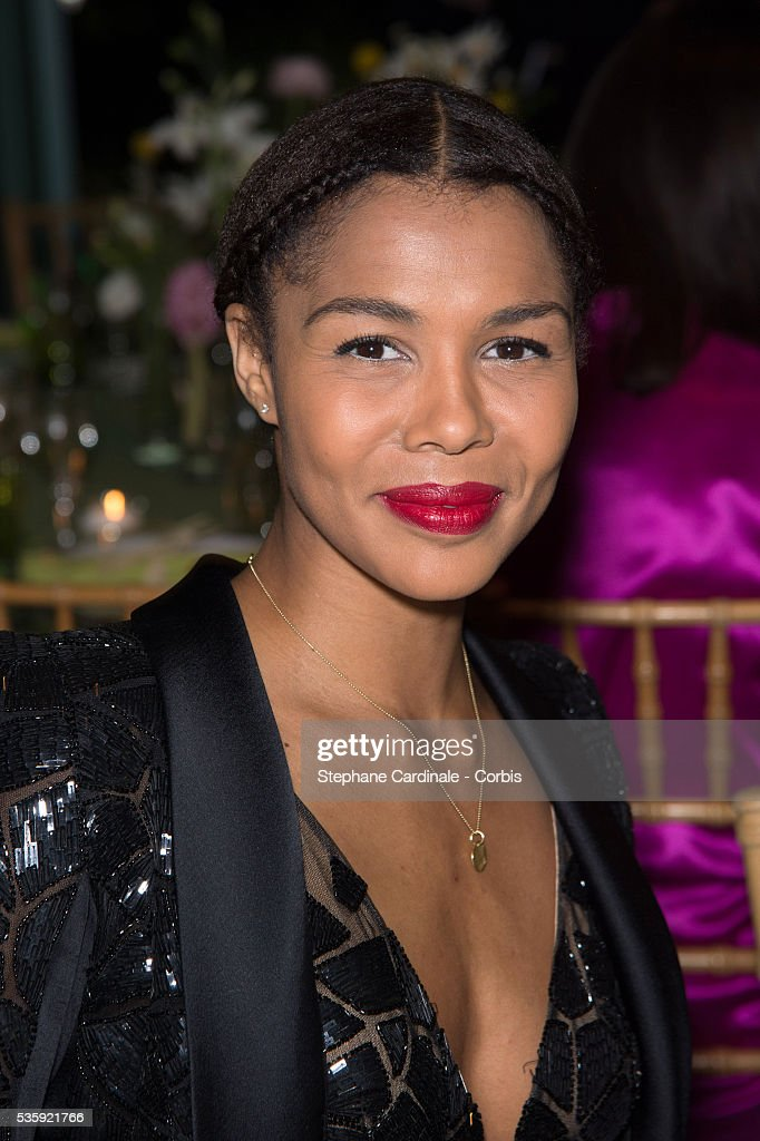Ayo attends the Sidaction Gala Dinner at Pavillon d'Armenonville, in Paris.
