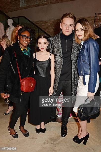 Ayo Sule Marama Corlett Jonny Lamb and Tuppence Middletonattends the Warehouse Oxford Street Flagship Store Launch on March 6 2014 in London England