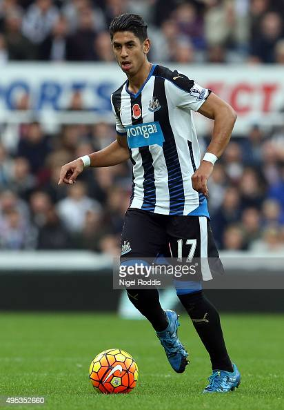 Ayoze Perez during the Barclays Premier League match between Newcastle United and Stoke City at St James' Park on October 31 2015 in Newcastle upon...
