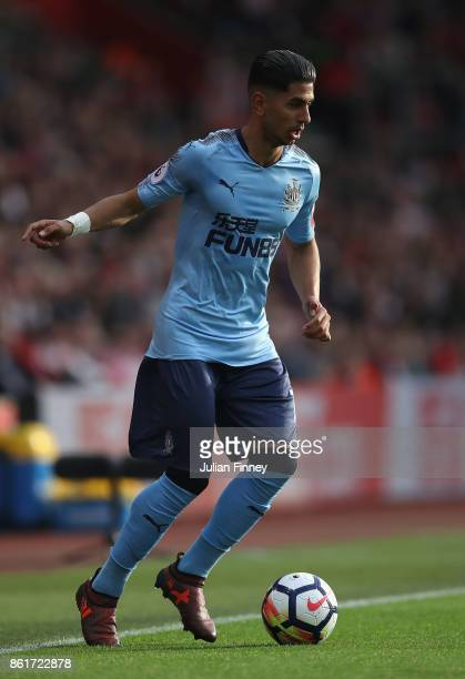 Ayoze Perez of Newcastle in action during the Premier League match between Southampton and Newcastle United at St Mary's Stadium on October 15 2017...