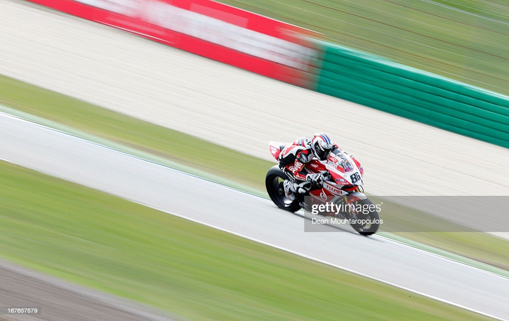 Ayrton Badovini (#86) of Italy on the Ducati 1199 Panigale R for Team Ducati Alstare competes during the World Superbikes Qualifying Session at TT Circuit Assen on April 27, 2013 in Assen, Netherlands.