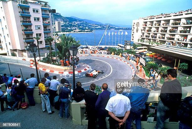 Ayrton Senna at the Loews hairpin McLarenHonda and went on to win the race Monaco GP Monte Carlo 7 May 1989