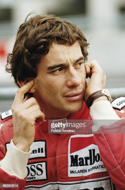Ayrton Senna driver of the McLarenHonda MP4/6 during pre season testing in February 1991 at the Autodromo Enzo e Dino Ferrari in Imola San Marino