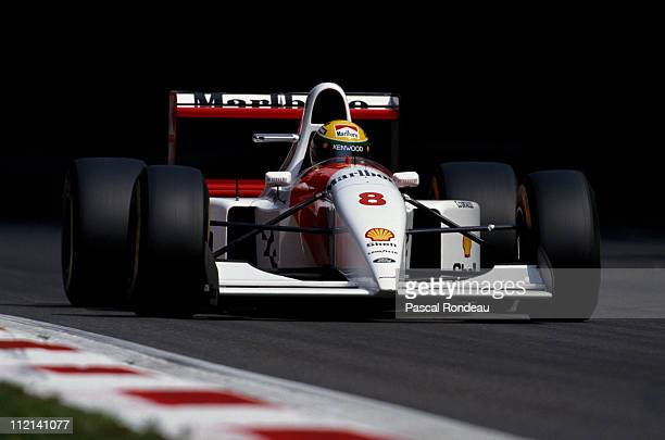 Ayrton Senna drives the Marlboro McLaren MP48 Ford HB 35 V8 during the Italian Grand Prix on 12th September 1993 at the Autodromo Nazionale Monza...