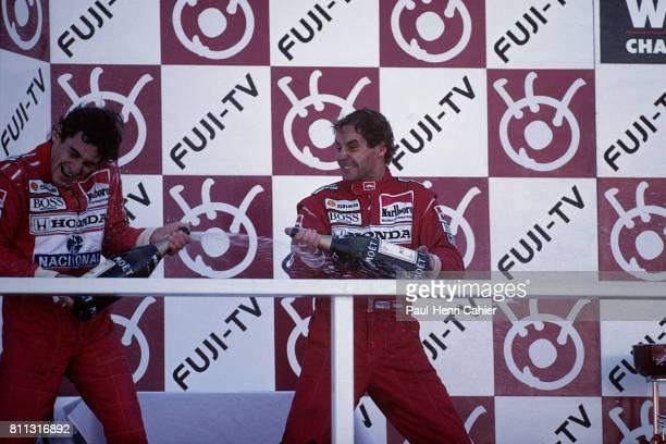 Ayrton Senna Gerhard Berger Grand Prix of Japan Suzuka 20 October 1991
