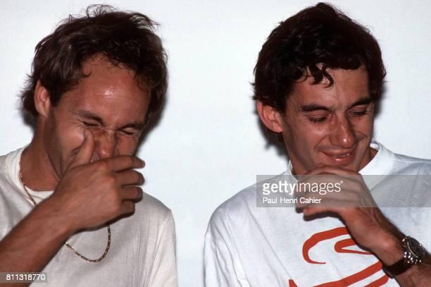 Ayrton Senna Gerhard Berger Grand Prix of Portugal Estoril 22 September 1991