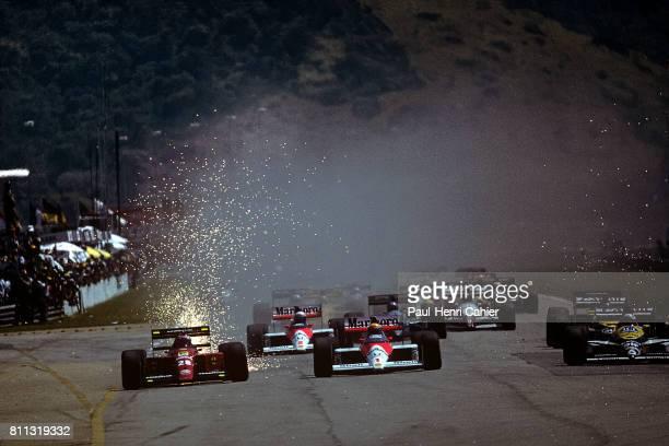 Ayrton Senna Gerhard Berger McLarenHonda MP4/5 Ferrari 640 Grand Prix of Brazil Jacarepagua 26 March 1989