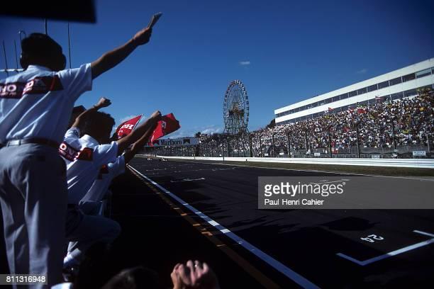 Ayrton Senna Gerhard Berger McLarenHonda MP4/6 Grand Prix of Japan Suzuka 20 October 1991