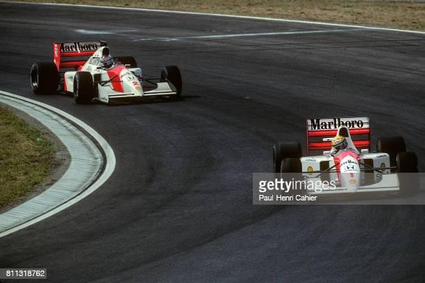 Ayrton Senna Gerhard Berger McLarenHonda MP4/7A Grand Prix of Hungary Hungaroring 16 August 1992