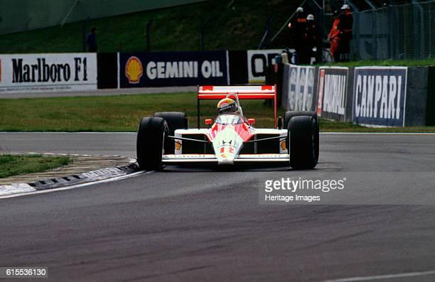 Ayrton Senna in the McLaren MP44 1988 British Grand Prix Silverstone Artist Unknown